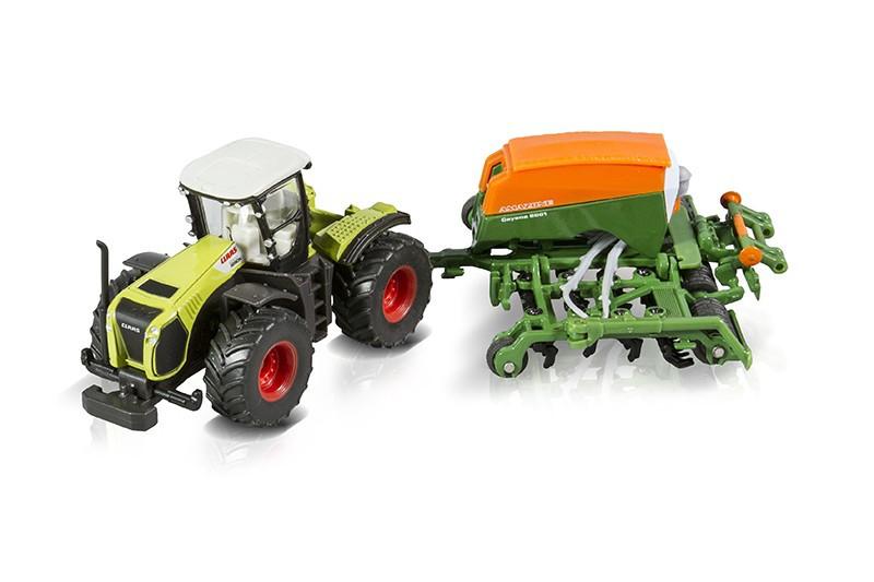 Siku 1826 - traktor Claas Xerion 5000 z siewnikiem Amazone