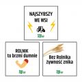 Zestaw naklejek top agrar Polska