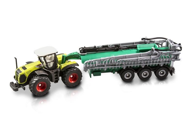 SIKU 1827 - Traktor Claas Xerion z cysterną