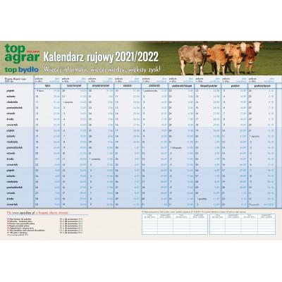 Kalendarz rujowy bydlęcy 2021