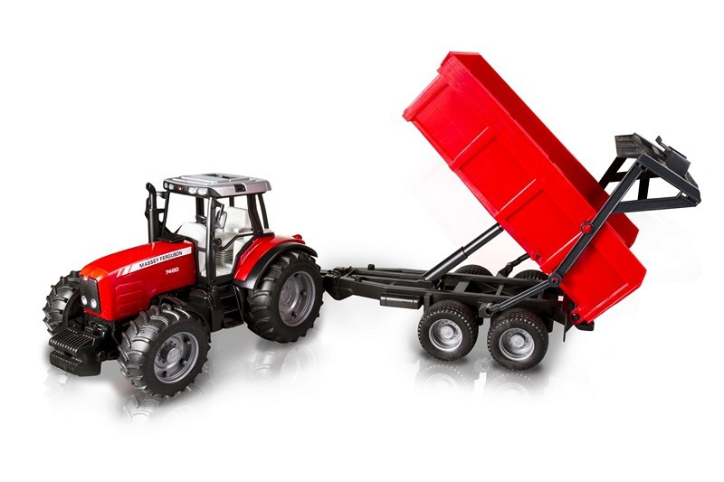 Bruder 2045 - Traktor Massey Ferguson 7480 z przyczepą