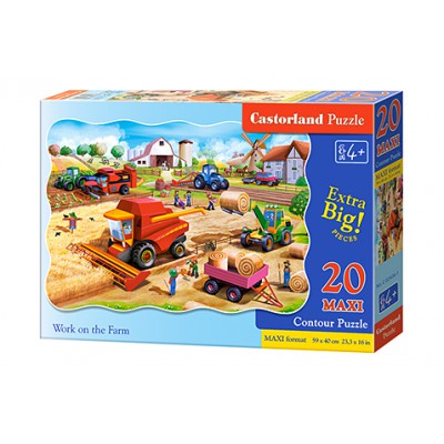 Puzzle 20 elementów MAXI. Work