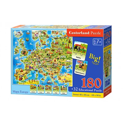 Puzzle 180 elementów MAXI....