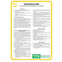 Instrukcja BHP - przy magazynowaniu środków ochrony roślin i nawozów