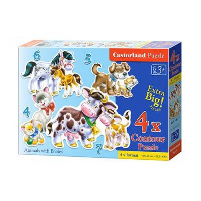 Puzzle Castorland 4w1...