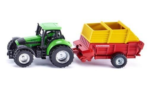 Siku 1676 - traktor z przyczepą