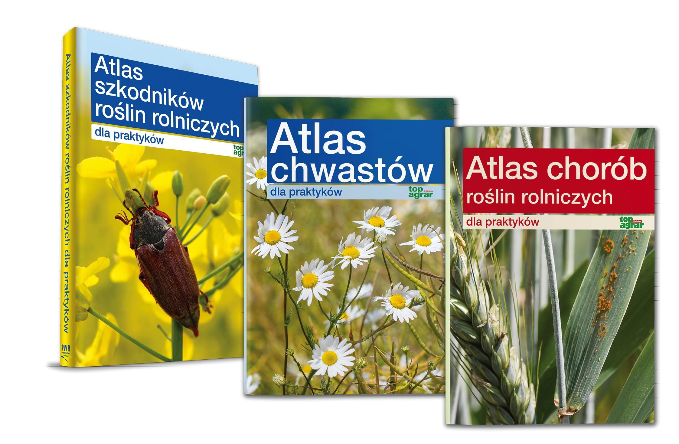 Pakiet: Atlas chwastów + Atlas szkodników + Atlas chorób