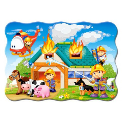 Puzzle Midi Castorland B-035090 (Cows on a Midow) 35 el.